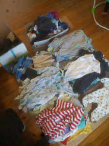 Lot of baby boy clothes, newborn to 6 months