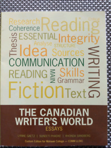 The Canadian Writer's World (Essays)