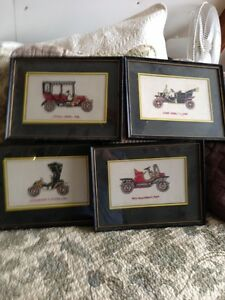 Vintage Cars Cross Stitch Pictures Kingston Kingston Area image 1