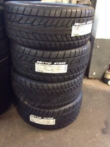 SET OF 4 BRAND NEW NEVER MOUNTED 255/45ZR18 NITTO NT555 TIRES $