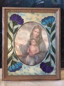 HAND MADE Lead glass painting
