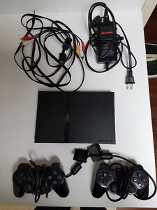 PS2 SUPER SLIM! TWO CONTROLLERS FULLY FUNCTIONAL MB MEMORY CARD