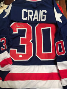 Jim Craig Signed USA Jersey 1980 Miracle On Ice With COA