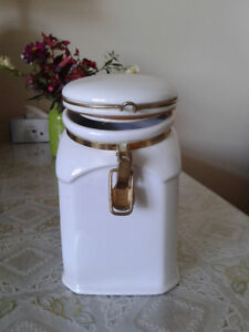 "Chinese vintage white porcelain sugar jar, 5 1/2"" width and 8 1/"