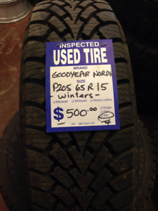 15 INCH winters! SET of 4 Goodyear winter tires great shape