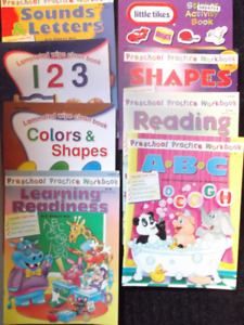 Children's Learning Books, Number, Letters, Colours, etc