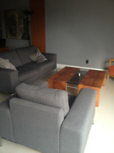 Grey Sofa and Chair for sale