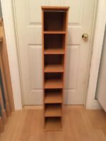 Wooden 7-shelf unit for CDs and more