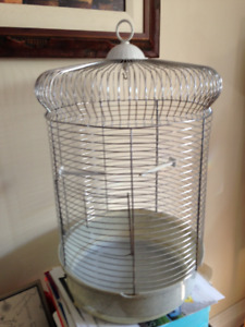 Bird cage and accessories (perches, swing, feed bowls, etc)