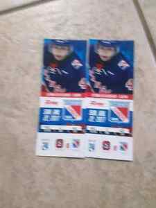 2 Kitchener Rangers tickets for sunday January 22