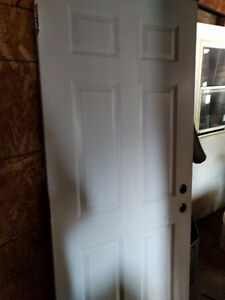 34 exterior solid door.