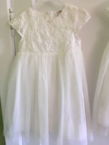 Matching flower girl dresses sizes 3 and 6