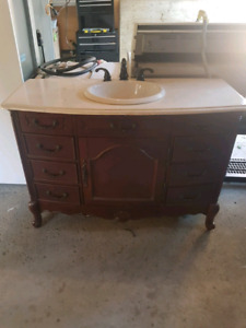 48 inch bathroom vanity with faucet.
