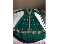 Green Asian wedding suit
