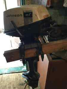 Johnson 4 h boat motor, FIRM
