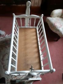Vintage rocking cot