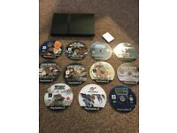 PS2 PlayStation 2 Slim 11 Games - No Controllers