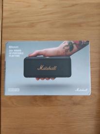 Marshall Emberton Portable Bluetooth Speaker, Black & Brass