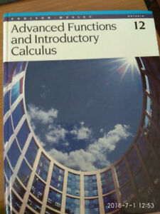 Addison - Wesley, Advanced Functions and Introductory Calculus