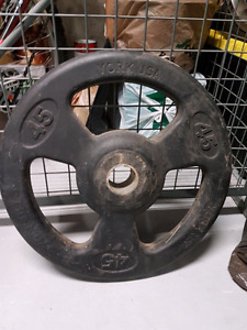 Olympic weight  2in holes 45lb plates trade or sell