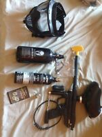 Small paintball kit, HPA tank included