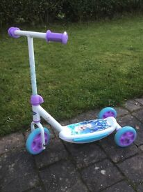 Frozen 3 wheeled scooter