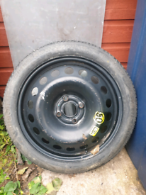 Vauxhall 4x100 16inch space-saving wheel