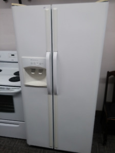 White Frigidaire Side By Side Fridge with Full Warranty