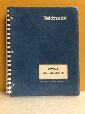 Tektronix 070-4735-00 2215a Oscilloscope Instruction Manual