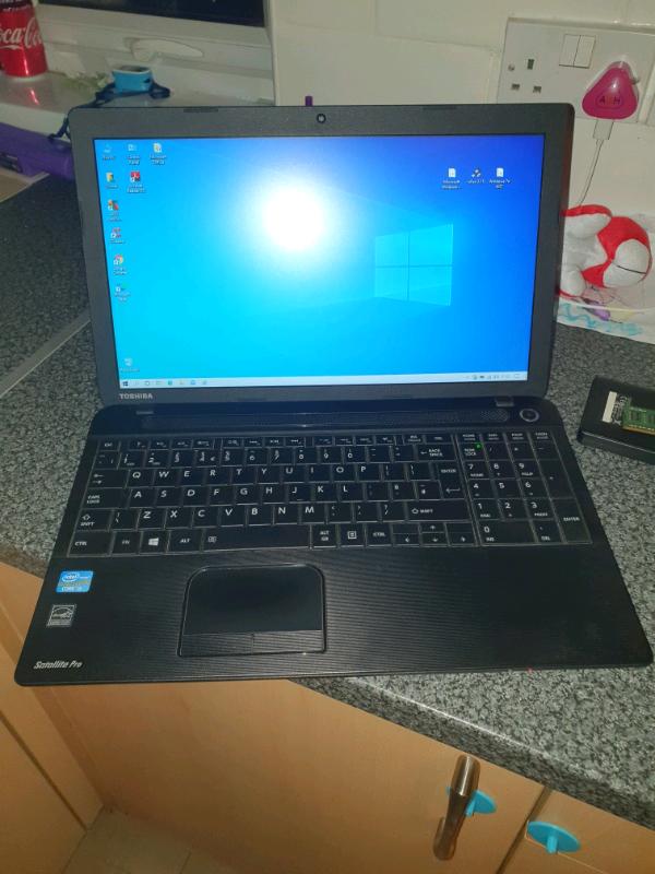 Toshiba windows 10 laptop SSD