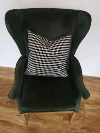 Vintage Armchair Green