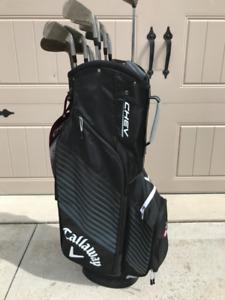 Titleist 704 CB Left Handed Men's Golf Clubs w new Callaway Bag