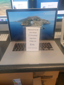 Macbook Pro Retina 15 inch i7 16gb