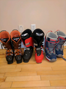 Snow board and ski boots