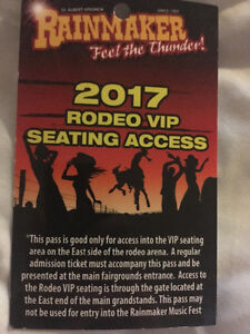 2 rainmaker rodeo VIP seating access tickets
