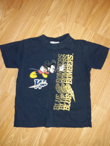 Boys Mickey Mouse Wpg Blue Bombers Shirt