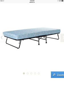 Folding guest bed with 5-inch mattress