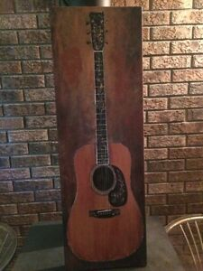 Beautiful canvas guitar painting Cambridge Kitchener Area image 1
