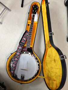 5 string Banjo & accessories for sale--excellent condition