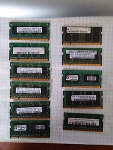 11 -  PC2 DDR2 Laptop Ram Memory Modules