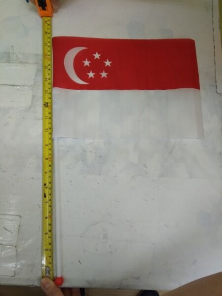 17 inch hgt hand held singapore flags for sale