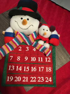 calendrier bonhomme de neige