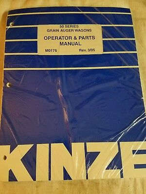 Kinze 50 Series M0176 Grain Auger Wagons Operator Parts Manual