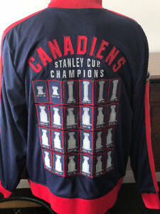 NHL CCM MONTREAL CANADIENS LORD STANLEY TRACK JACKET MEN'S XL