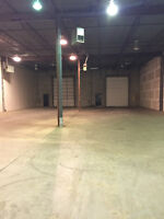 Warehouse industrial shop space available