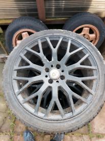 """4x100 17"""" alloy wheels"""
