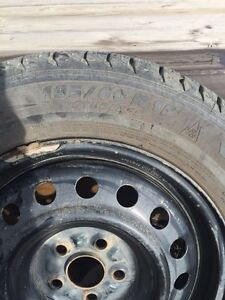 Like new 195/60 winter tires for sale