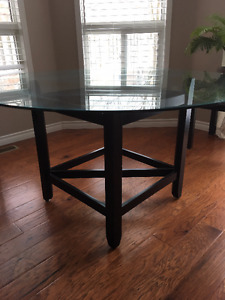 Beautiful glass top Dining table