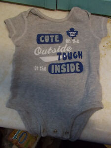 Toronto Maple Leafs Cute On...Baby Diaper Shirt Size 18 Months