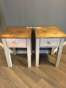Handcrafted Custom End Sofa Coffee Harvest Tables & Nightstands